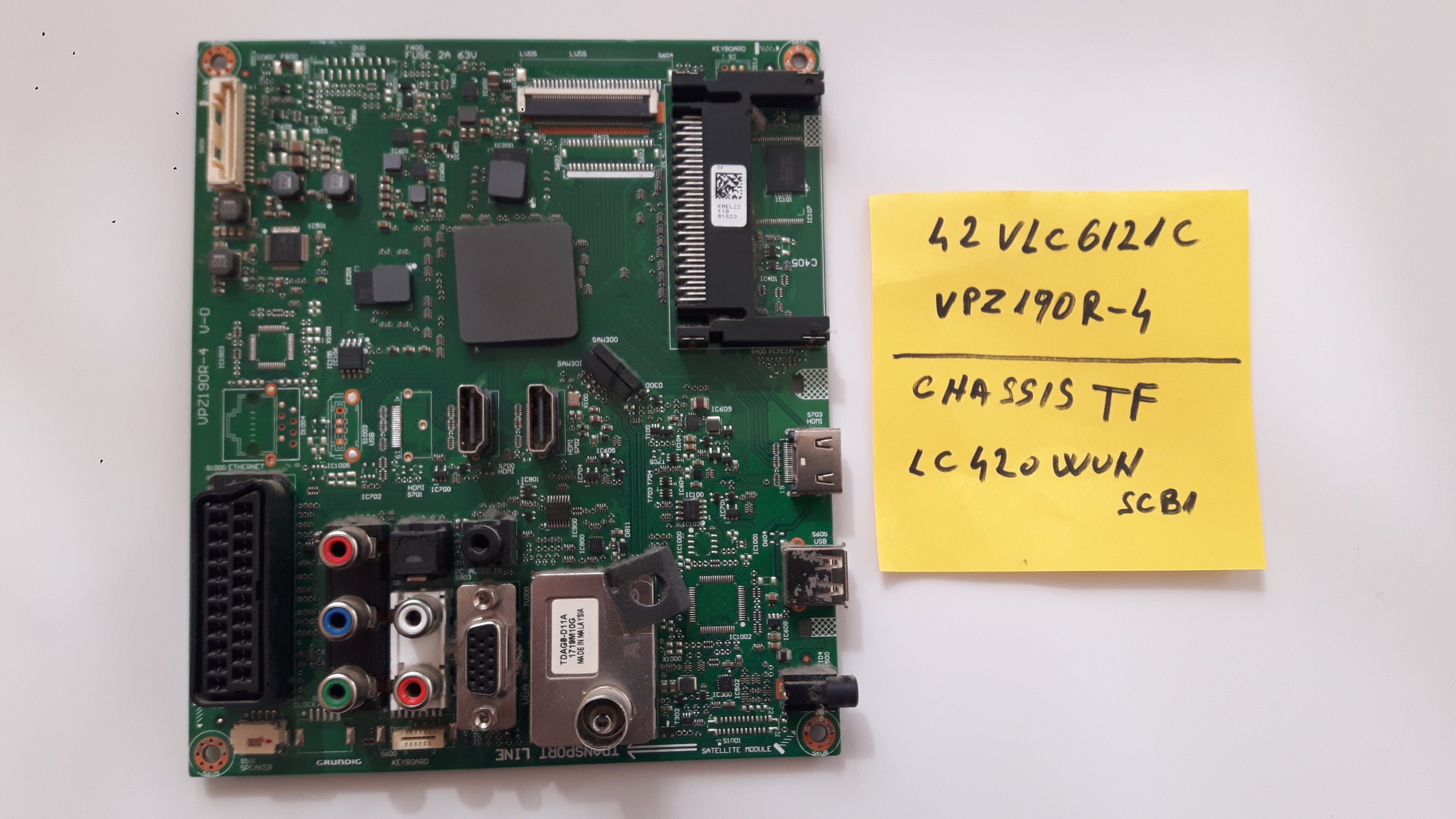 VPZ190R-4 42VCL6121C Chassis TF